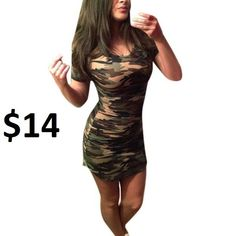 Cheap mini dress, Buy Quality women dress directly from China dresses short Suppliers: 2017 Summer Camouflage Printed Women Dress Short Hem Casual Slim Mini Dresses Summer Dresses 2017, Short Summer Dresses, Summer Dresses For Women, Short Sleeve Dresses, Mini Dresses, 2017 Summer, Short Sleeves, Mini Robes, Mini Vestidos