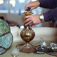 How to rewire an antique lamp - article from This Old House