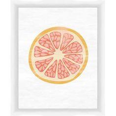 Grapefruit Framed Giclee Print
