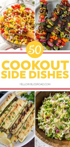 50 Cookout Side Dishes for Summer | YellowBlissRoad.com