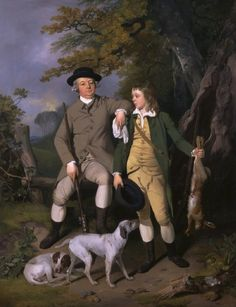 1779 Francis Wheatley - Portrait of a Sportsman with His Son (Yale Center for British Art) -