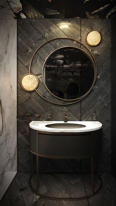 Bathroom Mirror Makeover, Bathroom Mirror Lighting, Bathroom Mirror DIY, Small Bathroom Mirror Powder Rooms, Bathroom Mirror Vanity Ideas, DIY Vanity Mirror With Lights. #BathroomMirror #BathroomMirrorIdeas