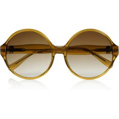 House of Harlow Willow round-frame acetate sunglasses ($74) ❤ liked on Polyvore