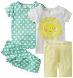 Carter s 4 Piece Cotton Set (Baby) Baby Girl Pajamas 76e808cfd