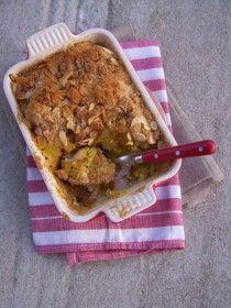Gratin de chou-fleur au curry et amandes
