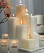 Kaarsen kerstdecoratie