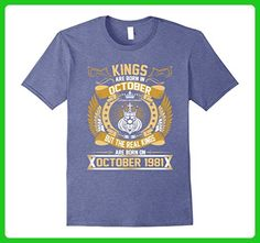 Mens October 1981 36th Birthday 36 Years Old Gift T-Shirt 2XL Heather Blue - Birthday shirts (*Amazon Partner-Link)