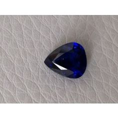 #Natural #Heated #Deep #Blue #Sapphire dark blue color cut as a #pear shape at 1.21 carats    Ideal fro an #engagement #ring to elongate the finger