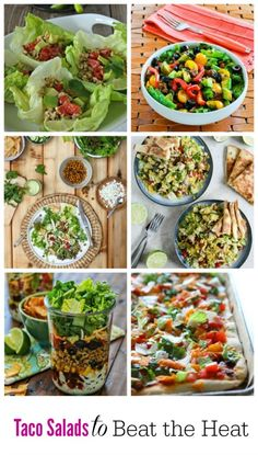 Taco Salad Round Up | mountainmamacooks.com #TacoTuesday