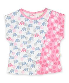 Look at this #zulilyfind! Pink Elephant & Leaf Sleeveless Top - Infant & Kids by Origany #zulilyfinds