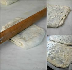 Zaatar, ένα φανταστικό επίπεδο ψωμί από την Παλαιστίνη -idiva.gr Bread And Pastries, Rolling Pin, Rolls, Dairy, Food And Drink, Vegan, Kitchen, Recipes, Pizza