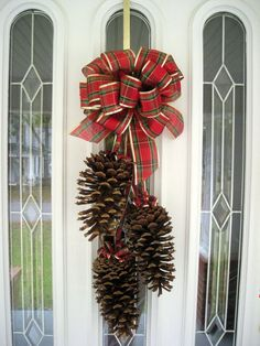 Items similar to Pine Cone Swag / Highland Christmas/ Natural Giant Pine Cone Swag/ Woodland Christmas/Colonial Christmas/ Christmas Wedding on Etsy Christmas Pine Cones, Christmas Swags, Woodland Christmas, Xmas Wreaths, Rustic Christmas, Christmas Holidays, Christmas Ornaments, Christmas Wedding, Primitive Christmas