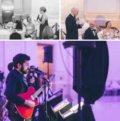 Toasts and entertainment during a wedding reception at the Franklin Institute in Philadelphia. Captured by NYC wedding photographer Ben Lau.