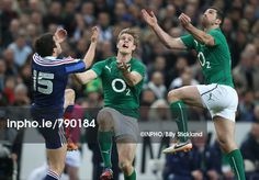 Inpho Sports Photography Ireland - RBS 6 Nations Championship France vs Ireland France's Brice Dulin and Ireland's Andrew Trimble and Rob Kearney go for the ball Mandatory Credit ©INPHO/Billy Stickland Rugby, France, Baseball Cards, Running, Sayings, Sports, Photography, Men, Love