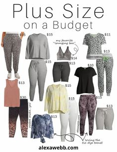 Plus Size on a Budget Lounging Loungewear for Staying at Home - Alexa Webb #plussize #alexawebb Stylish Work Outfits, Curvy Outfits, Mom Outfits, 60 Fashion, Curvy Fashion, Fashion Ideas, Apple Shape Outfits, Skinny Love, Curvy Plus Size