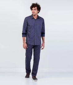 Camisa Masculina Slim - Lojas Renner 605c3fde05c