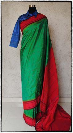s33 Kanjeevaram Hand Woven Pure Silk Sari Indian Attire, Handloom Saree, Saris, Pure Silk, Desi, Most Beautiful, Hand Weaving, Blouses, Pure Products