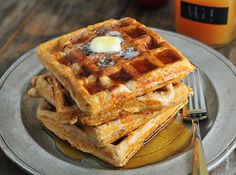 Apple Cider Waffles from @addapinch | Robyn Stone