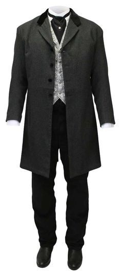 I like the frock coat a lot. 1880s Fashion, Edwardian Fashion, Frock Coat, Coat Dress, Prince Albert, Victorian Costume, Period Outfit, Gentleman Style, Historical Clothing