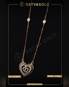 Amore Heart Chain Pendant is made of pure rose gold. Here the outer heart is designed of gold mesh, and inside is a hanging heart with dazzling diamonds enthroned to complete this look. . . #satvagold #gold #puregold #kada #ring #rakhi #rakhshabandhan #giftforsister #bracelet #explore #18ct #18k #22k #rosegold #yellowgold #hallmark #hallmarkjewellery #celebration #sister #diamond #gems #beautiful #goldjewellery #jewellerydesign Gold Jewelry, Gold Necklace, Heart Chain, Gold Ornaments, Hanging Hearts, Chain Pendants, Sister Gifts, Pendant Set, Wholesale Jewelry