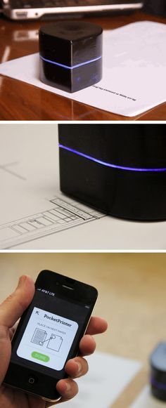 Pocket Printer - Prints from your phone on any size paper.