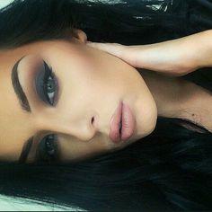 Maquillaje de noche - www. - - Make-Up Flawless Makeup, Gorgeous Makeup, Pretty Makeup, Love Makeup, Makeup Looks, Gorgeous Eyes, No Make Up Make Up Look, Eye Make Up, Beauty Make-up