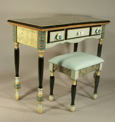 HANDPAINTED DECORATIVE ART FURNITURE        original designs  |  painted by hand  |  one-piece-at-a-time         by SUZANNE FITCH