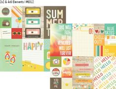 Summer Vibes 12x12 Paper - 2x2 & 4x6 Elements