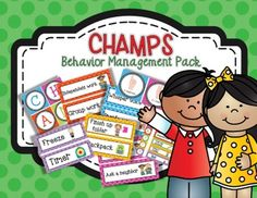 CHAMPS is a behavior management system that allows you to set clear expectations with your students.  To use this pack, print up the labels that you need for your classroom, and as you change activities throughout the day, you update your CHAMPS board to reflect the expectations for that particular activity.The categories included in this pack are:C - Conversation - no talking, whisper voice, inside voice, presentation voice, partner talk, group talk, and whole group discussion.H - Help…