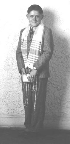 Benjamin Hirsch, Holocaust survivor and renowned Atlanta architect, on the occasion of his Bar-Mitzvah, 1942.