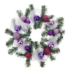 Easy and quick way to decorate your home or office space. This Styrofoam wreath comes assembled with mesh ribbon, ornaments balls, and artificial pine tree branches. Mesh Ribbon, Pine Tree, Tree Branches, Decorating Your Home, Balls, Christmas Wreaths, 21st, Ornaments, Space