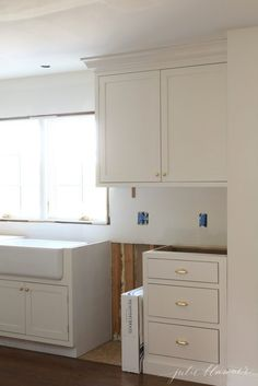 Check Out The Trim Detailing Like It Unlacquered Br Cabinet Hardware Hinges S And Pulls