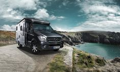 """The special model of the HYMER ML-T """"60 Edition"""" has an impressive new exterior design: stylish Metallic Graphite Grey has been used for the chassis, the alcove has been painted to match, and the bodywork gleams in Metallic Crystal Silver."""