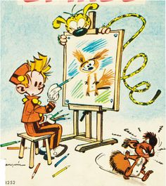 7. I read lots of European Comics, and André Franquin is probably someone I really looked up to when I was younger.