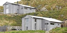 Western TRADITION: The architect-designed cottages on Svaan outside Egersund is shaped like old uteløer and boathouse.