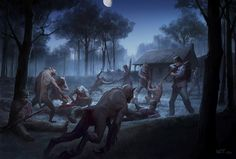 Night fight at Chappell's Farm