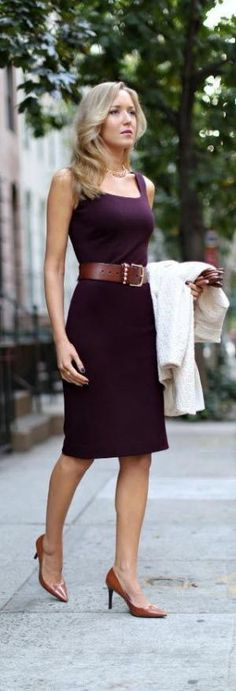 beautiful grape colored dress for work