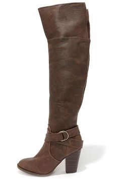 ddcd0623c1c Bootsy Columns Brown Over the Knee Boots at Lulus.com! Click here to get