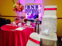 Bridal show booth for BNB Event Rentals