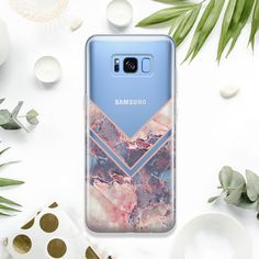 Stone Marble Samsung Galaxy S10 S9 Plus Silicona Funda Mineral 8 9 A5 A9 A3 Note