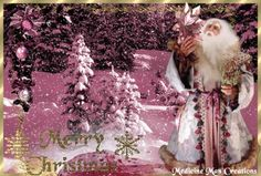 Santa Snow Trees- Christmas And New Year, Winter Christmas, Snow Trees, Detailed Image, Holiday Fun, Larger, Gifs, Santa, Store