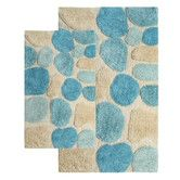 I've finally found the right colors for our bedroom, so the bathroom will be next.  Love these bath rugs! Found at Wayfair - Pebbles Contemporary Bath Rug Set (Set of 2)