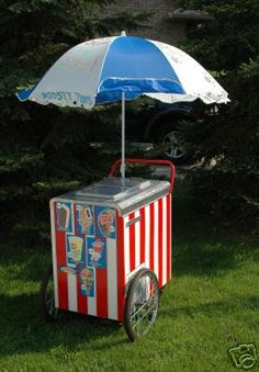 DIY Good Humor Ice cream cart