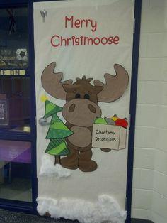 My classroom Christmas door decoration Diy Christmas Door Decorations, Christmas Door Decorating Contest, Christmas Classroom Door, School Door Decorations, Christmas Diy, Christmas Moose, Merry Christmas, Reno, Diy Weihnachten