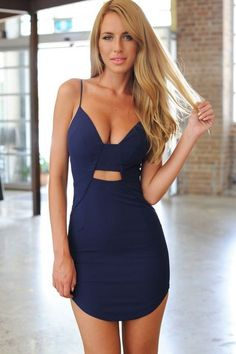 Blue hot bodycon outfit