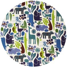 Alexander Henry, FLANNEL, 2D Zoo Pool  Pillows for play room