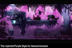 Awesomenauts Purple Style A big. Game Background Art, Background Tile, Game Character Design, Game Design, Cool Pixel Art, 2d Game Art, Game Concept, Purple Reign, Games