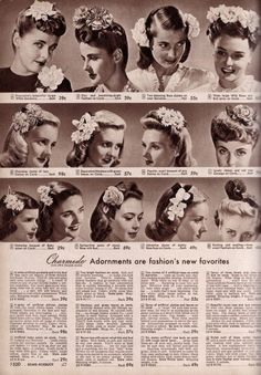 Article on 1940s Hair Adornments