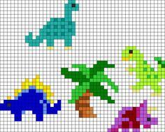 Perler Bead Dinosaur Pattern