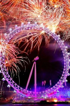 As a New Years Eve guest you will have access to one of the closed viewing areas around the London Eye to watch the fireworks London Fireworks, New Year Fireworks, London Eye, Nye London, New Year London, Fireworks Photography, London Attractions, London Landmarks, Happy New Year